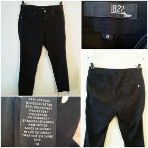 1822 Denim Womens Black Jean Pants